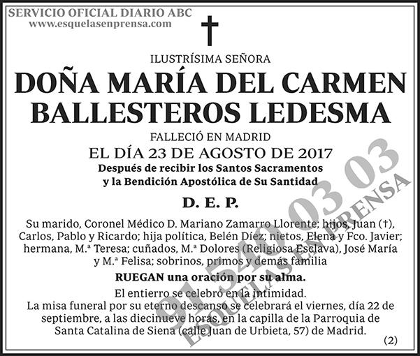 María del Carmen Ballesteros Ledesma